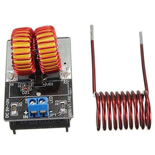 (C.J. SHOP ZVS induction heating power supply module tesla Jacob's ladder 5v-12v 9v coil)