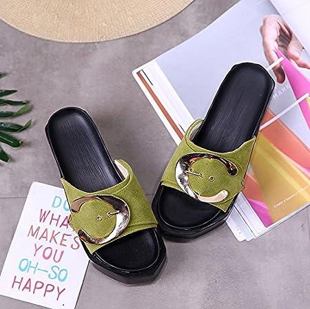 RUGAI-UE Con suole spesse sandali ciabattine Estate Donna Scarpe High-Heeled  Pantofole: Amazon.it: Sport e tempo libero