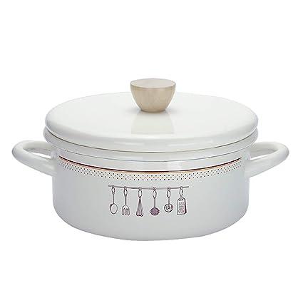 Nouvelles Arrivées 848cc 5f859 Pot éMaillé MéNage Pot De Soupe ÉPaissir ÉMail Grande ...