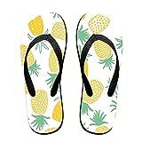 Couple Flip Flops Pineapple Print Chic Sandals Slipper Rubber Non-Slip Spa Thong Slippers