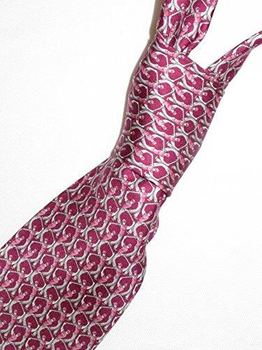 Salvatore Ferragamo Berry Pink Golf Golfer Silk Neck Tie