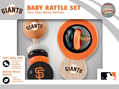 MasterPieces MLB San Francisco Giants Baby Rattle, 2-Pack