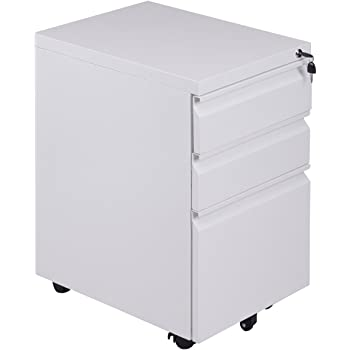 Amazon Com Giantex 3 Drawer Mobile File Cabinet With