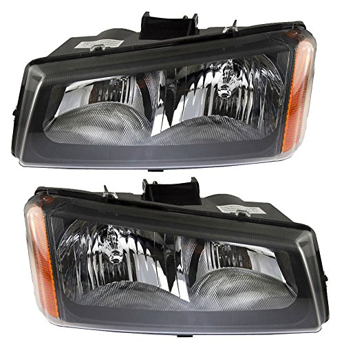 Headlights Headlamps Driver and Passenger Replacements for Chevrolet Silverado Avalanche Pickup Truck 10396913 ()