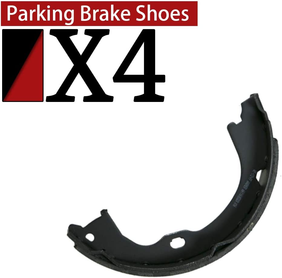 AutoDN Rear Parking Brake Shoes Compatible With 2014-2015 Chevrolet Silverado 2500 HD
