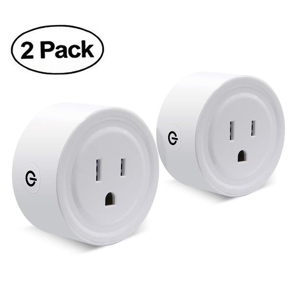 Wifi Smart Plug Set of 2 Mini Smart Outlet Compatible with Alexa Remote Control By Smart Phone from Anywhere Anytime (2 Packs)