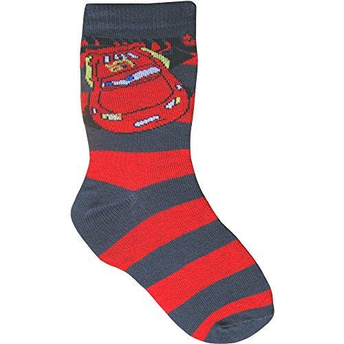 Disney Boys' Disney Pixar Cars Socks Us Junior 13.5-4.5 (Eur 31-34) Disney Cars Red & Grey Disney Pixar Cars Socks