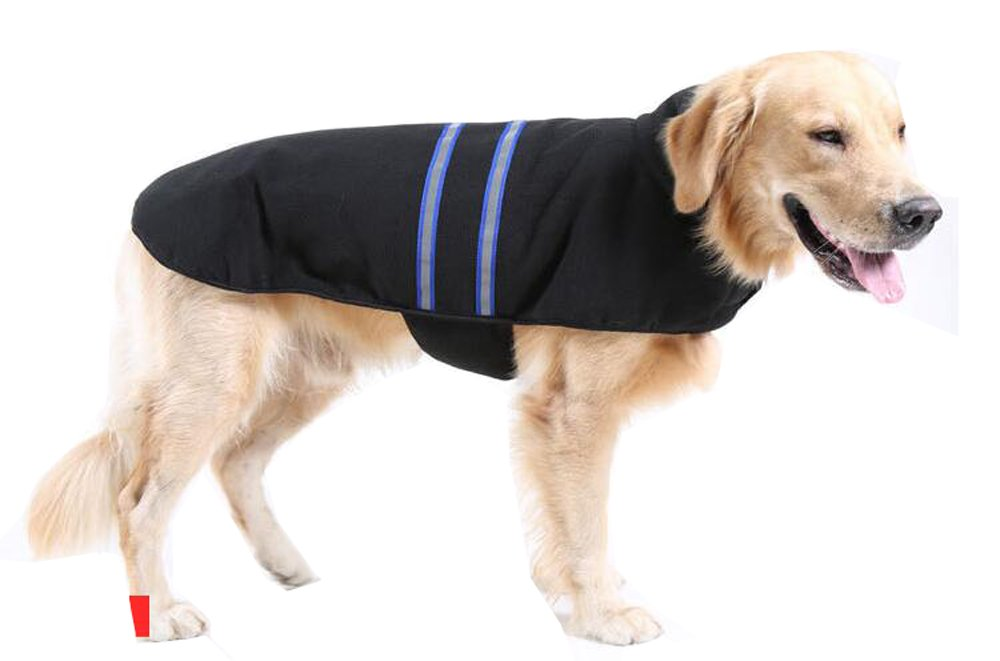bluee M bluee M Fashion Shop Nor'easter Fleece Dog Winter Coat (bluee, M)