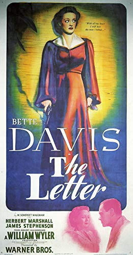 - American Gift Services - The Letter Bette Davis Vintage Movie Poster - 24x36