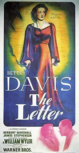 Davis Movie Poster - American Gift Services - The Letter Bette Davis Vintage Movie Poster - 24x36
