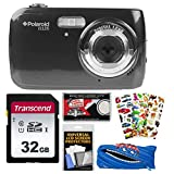Polaroid iS126 16.1MP Digital Camera (Black) with 32GB Card + Case + Puffy Stickers + Kit