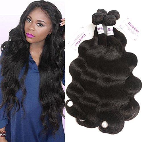 LiangDian HAIR 7A Body Wave Brazilian Virgin Hair 4pcs 16 18 20 22inch Brazilian Body Wave Brazilian Hair Bundles Human Hair Weave by LiangDian