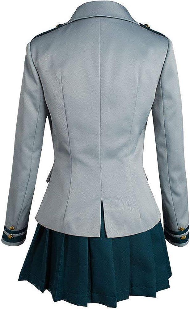 USEN Boku no Hero Academia My Hero Academia Tsuyu School Uniform Jacket Shirt Coat Skirt Cosplay Costume