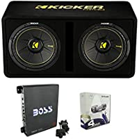 Kicker 44DCWC122 12 1200W Car Audio Subwoofer Sub Enclosure+Mono Amplifier Amp