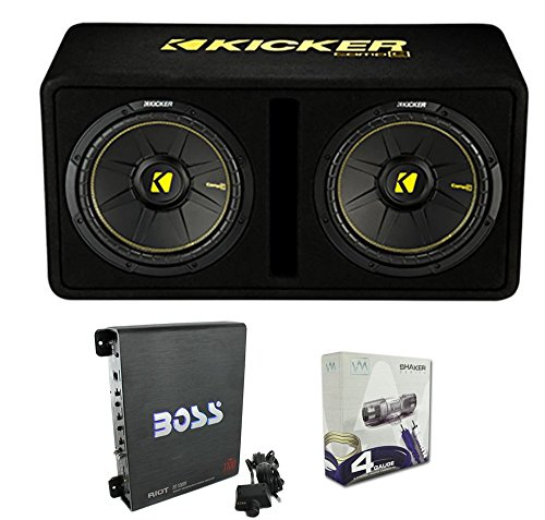 Kicker 44DCWC122 12' 1200W Car Audio Subwoofer Sub Enclosure+Mono Amplifier Amp