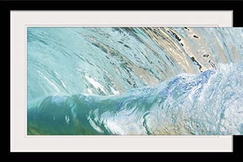 GreatBIGCanvas ''Hawaii, Underwater View of Wave'' by Vince Cavataio Photographic Print with black Frame, 36'' X 24'''' by greatBIGcanvas