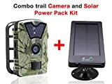 "My Animal Command Wilderness Trail Camera with Solar Power - Outdoor Surveillance Camera With Night Vision & Is Motion Activated - 2.4"" LCD IP66 Waterproof Hunting Camera w/Solar Power Pack"
