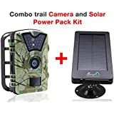 My Animal Command Outdoor Digital 12MP Trail Cameras with Night Vision Motion Activated Sensor and Solar Power Pack, IP66 Waterproof 1080p Game Surveillance System Camera, for Deer & Wildlife Hunting