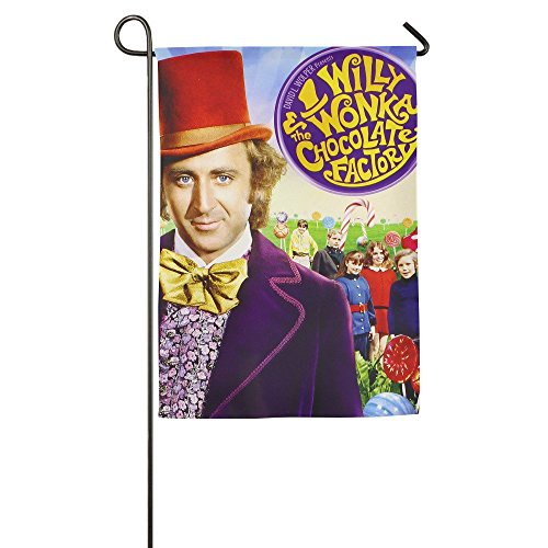 DEJML Funny Willy Wonka & The Chocolate Factory Garden Flag (Willy Wonka Funny)