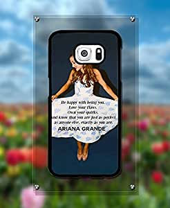 Galaxy S6 Creative Funda Case - Pretty Girl Singer Ariana Grande Protection [Scratch-Proof] Ultra Thin Funda Case With [Snap On] for Samsung Galaxy S6 - By Kanel