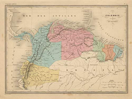 antique south america maps