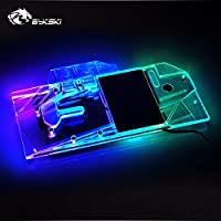 GPU Copper Water Cooling Block for Asus Strix RTX 2070 O8G Gaming 5V 3PIN RGB LED Remote Control