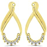 1/5 ct. Diamonds (G-H,I2-I3) Dangle Earring Jackets in Yellow Plated Sterling Silver (0.21 ct. twt.)