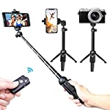 Selfie Stick,Venfoto Extendable Selfie Stick Tripod - 39 in Wireless Remote Bluetooth Phone Holder Compatible iOS System and Android 4.3 System Above Selfie Stick Compatible iPhone/Samsung/ GoPro