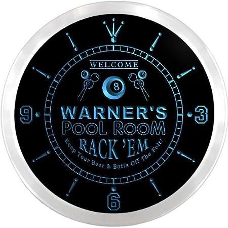 ncpy1344-b Warner de sala de billar rack em cerveza pub signo de ...