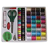 video maker wi - 100PC Sewing Kit Thread Threader Needle Tape Storage Box Measure Scissor Thimble