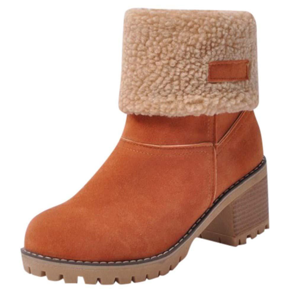 FMWLST FMWLST FMWLST Stiefel Damen Stiefel Frauen Winter Runde Kopf Schuhe WildPU Martin Anti-Ski-Stiefel Outdoor Pu Kurze Stiefel f9019e