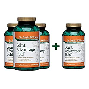 Dr. David Williams' Joint Advantage Gold Joint Pain Relief Supplement, 480 Tablets (120-day Supply)