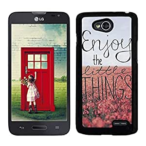 FUNDA CARCASA PARA LG L90 ENJOY THE LITTLE THINGS BORDE NEGRO