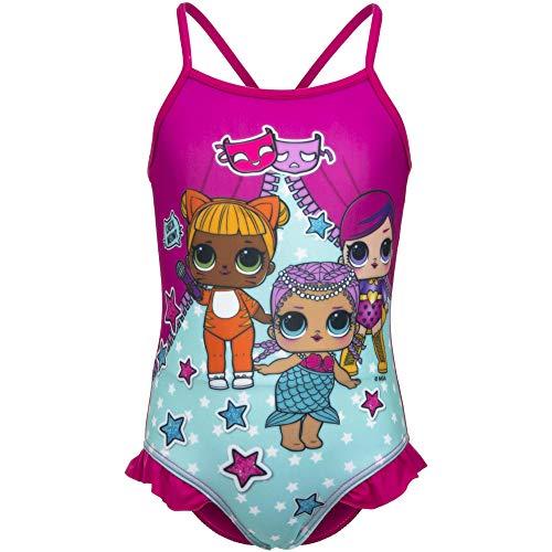 surprise LOL – Disfraz de Volan de Color Fucsia, Talla 3-4-5-6-8 años