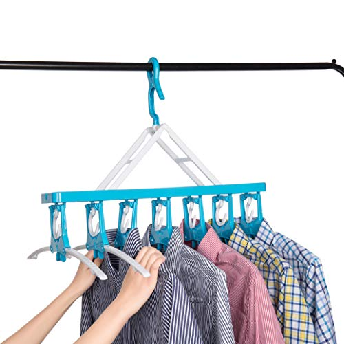 (Closet Clothes Hangers Space Saving Hangers Multi-Function Plastic Cascading Hanger Non Slip with Drying Rack Wardrobe Dorm Apartment)