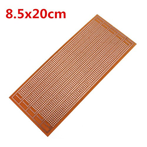C&C Products 8.5x20cm DIY PCB Prototype Printed Circuit Board Stripboard Single Side