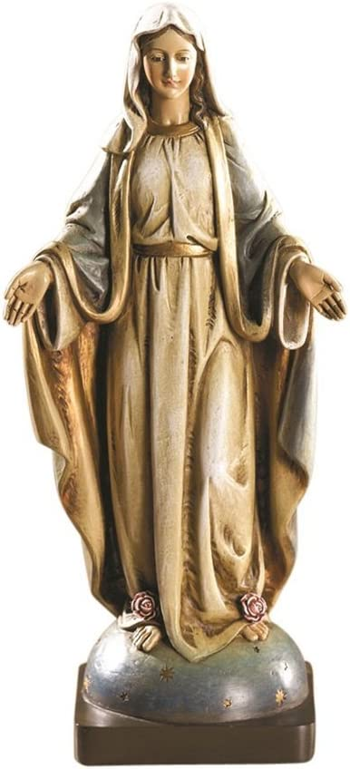 Avalon Gallery Our Lady of Grace Resin Religious Statue, 8 1/4 Inch
