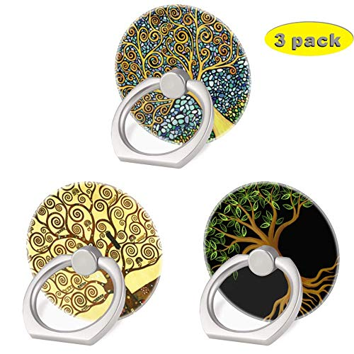 3 Pack/Tree of Life Cell Phone Ring Holder 360 Degree Finger Ring Stand for Smartphone Tablet