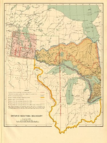 Map Of Canada 1870.Ontario Manitoba Boundary Dispute Dominion Acts 1870 77 81 Quebec
