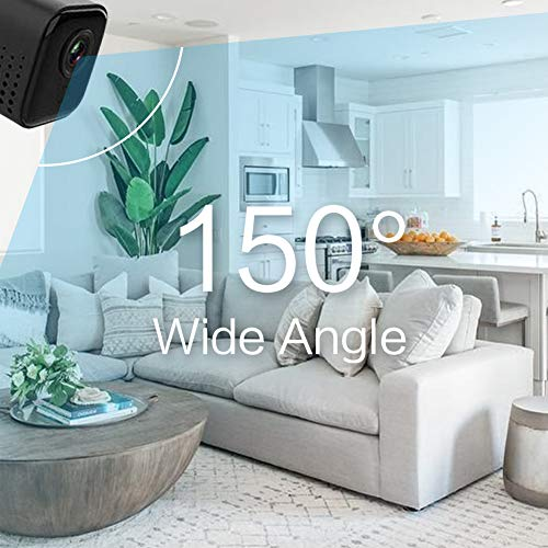 Cloud Mini Spy Hidden Magnetic Camera with Night Vision. Wi-Fi, P2P, 1080p, Motion Detection, 150 Degree Angle, Loop Recording, SD, 5 Hours Long-Life Battery. for Home, Baby, Pets, Surveillance