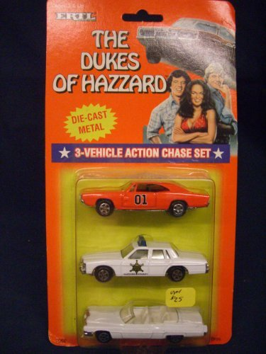 Dukes of Hazzard Hazzard County Car Set General Lee, Boss Hogg, Daisy ()
