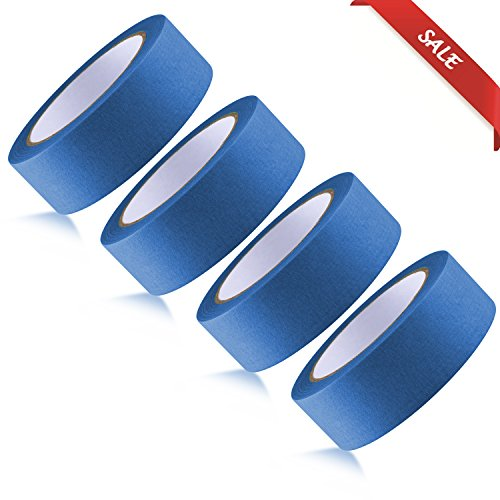 - SENCOL 【1 PC 】 Masking Tape Furniture Construction Spray Painting Masking;High Temperature high Adhesive;Big Size: 36mm x 50yards (Blue)
