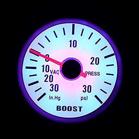 KKmoon Oil Pressure Meter Gauge with Sensor for Auto Car 2 52mm 0~100PSI Blue LED Light