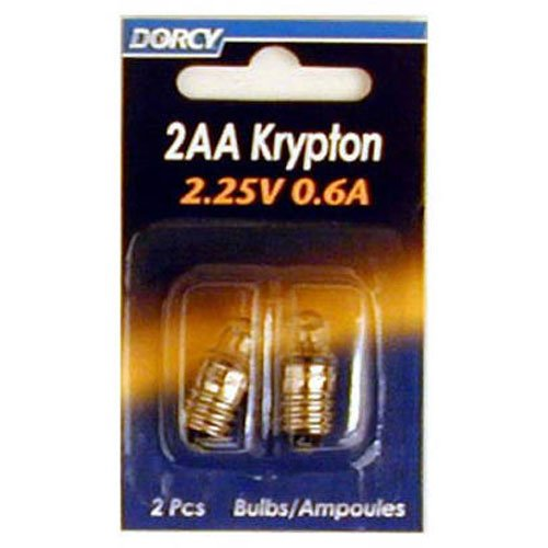 2aa Krypton Bulb - Dorcy 2AA-2.25-Volt, 0.6A Krypton Replacement Bulb, 2-Pack (41-1664)