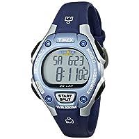 Timex - Reloj mediano de cuarzo digital Ironman de 30 vueltas para mujeres, azul /plateado - T5K018