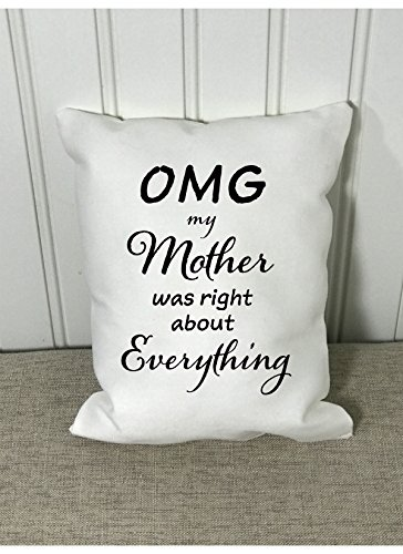 Mothers day, pillow quote, birthday gift, decorative pillow, throw pillow, accent pillow, Mom, humorous, funny throw pillow, home decor