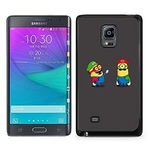 Popular Sale Samsung Galaxy Note Edge Case,Funny minions Black Customized Picture Design Samsung Galaxy Note Edge Phone Case