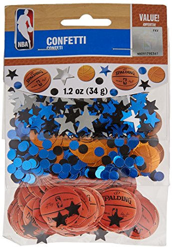 Amscan Spalding Cool Basketball Theme Confetti Decoration Party Supplies , Multicolor, 12 Pieces by Amscan