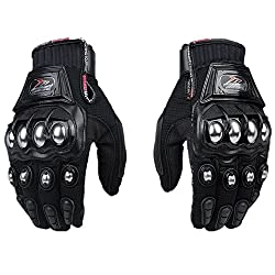 Zhw Alloy Steel Knuckle Gloves Sport Shooting Paintball Hunting Riding Motorcycle,riding Gloves (Xl)
