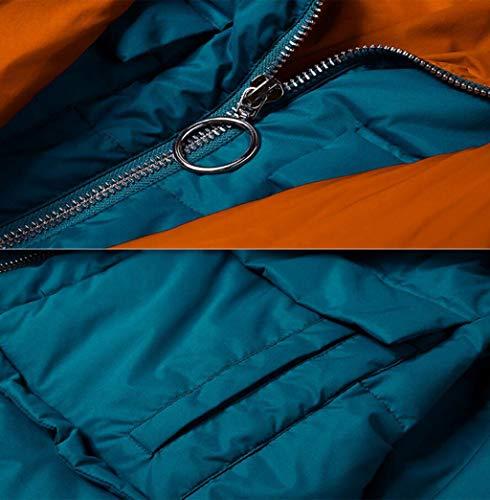 Con Maniche E Lunga Giacca A Blu Lunghe Piumino Blu Donna Dimensioni Invernale Cappuccio Ampia S Da colore Jbhurf wvxX8n